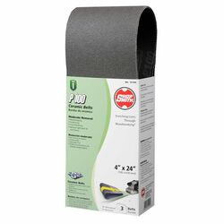 Shopsmith  24 in. L x 4 in. W Ceramic  Sanding Belt  100 Grit Medium  3 pc.