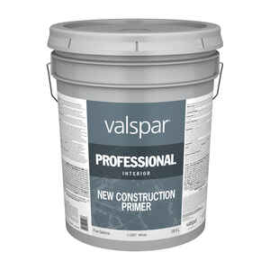 Valspar  Prep-Step  Basic White  Latex  New Construction Primer  5 gal.