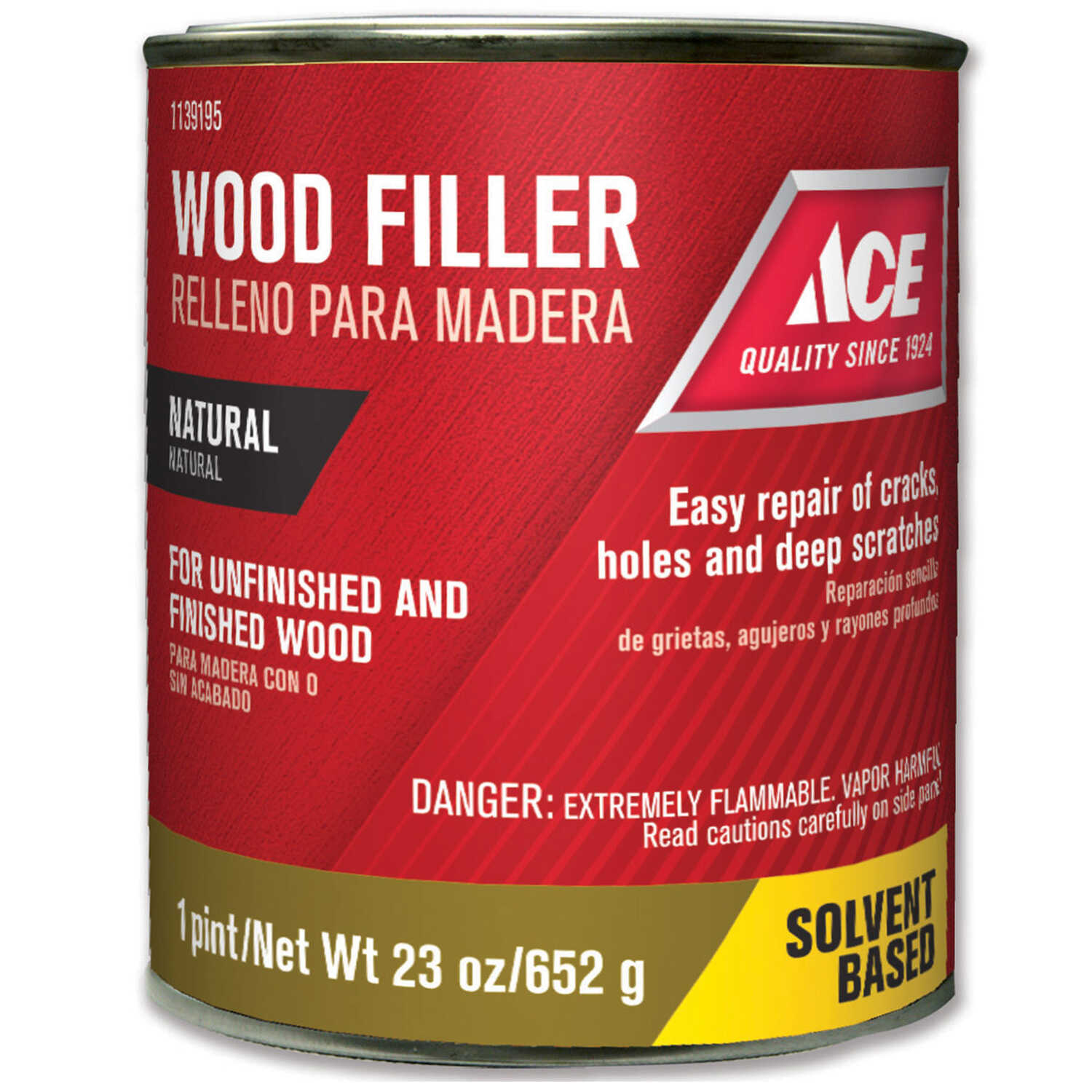 Ace  Natural  Wood Filler  23 oz.