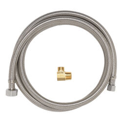 Ace Hardware  1/2 in. FIP   x 1/2 in. Dia. Compression  60 in. Braided Stainless Steel  Dishwasher S