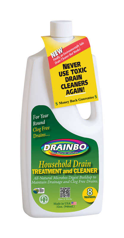 Drainbo  The Natural Solution  Liquid  Drain Cleaner  32 oz.