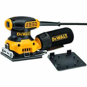 DeWalt  2.3  Corded  1/4 Sheet  Palm Sander  4.25 in. L x 4.5 in. W 14000 opm 120 volts