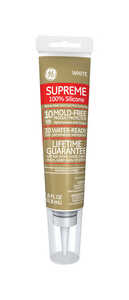 GE  White  Supreme Silicone  Sealant  2.8 oz.
