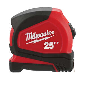 Milwaukee  1.83 in. W x 25 ft. L Compact  Red  1 pk Tape Measure