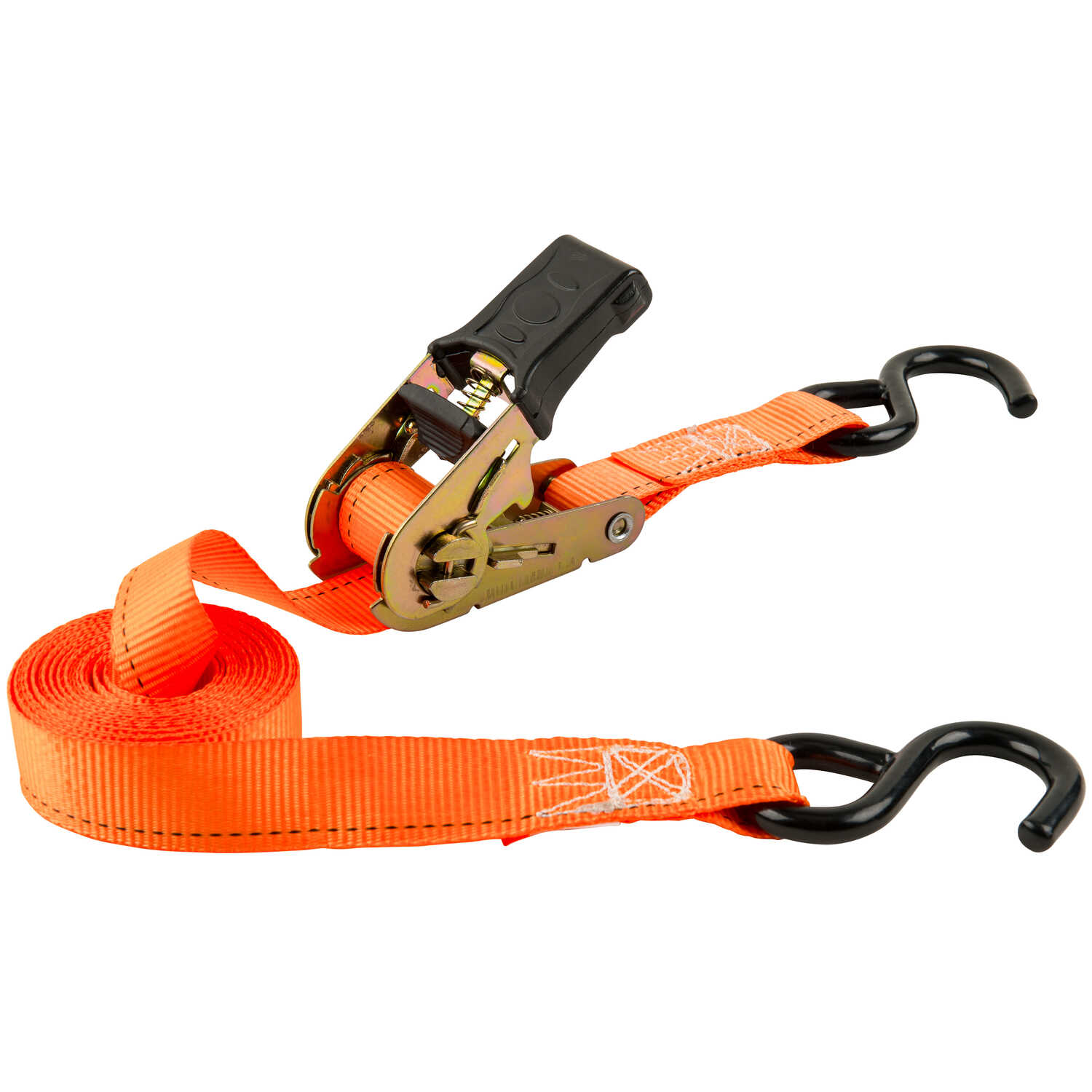 Keeper  1 in. W x 13 ft. L Orange  Racheting Tie Down Strap  400 lb. 1 pk