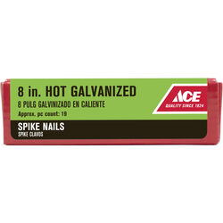 Ace 8 in. Spike Hot-Dipped Galvanized Steel Nail Diamond 5 lb.
