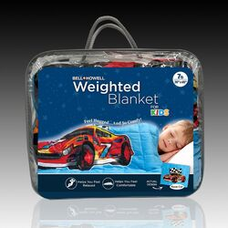 Bell + Howell Multicolored Race Car Weighted Blanket 1 pk