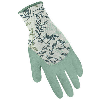 Digz  L  Latex Coated  Stretch FIt  Gray/Orange  Gardening Gloves