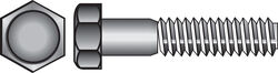 Hillman 3/8 in. Dia. x 2 in. L Zinc Plated Steel Hex Bolt 100 pk