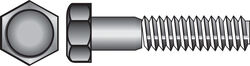 Hillman  1/4-20 in. Dia. x 5 in. L Stainless Steel  Hex Head Cap Screw  25 pk
