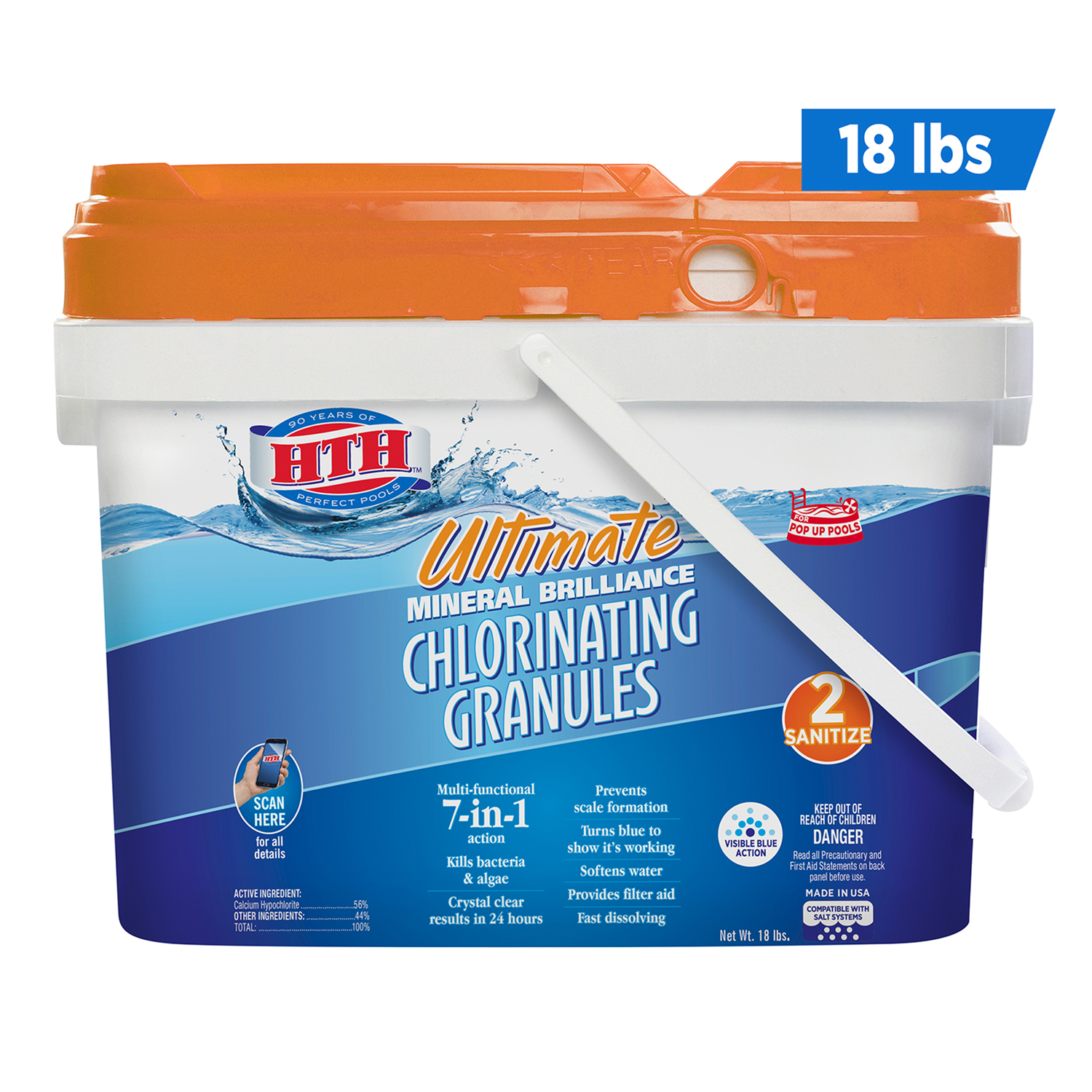 hth Ultimate Mineral Brilliance Chlorinating Chemicals 18 lb. - Ace ...