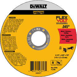 DeWalt  FlexVolt  4-1/2 in. Dia. x 7/8 in.  Ceramic  Cut-Off Wheel  1 pc.