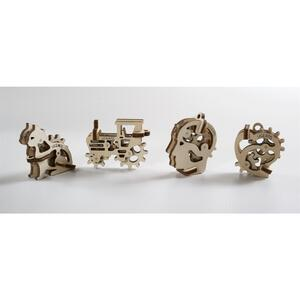 UGears  U-Fidget  3D Puzzle Model  Natural  Wood