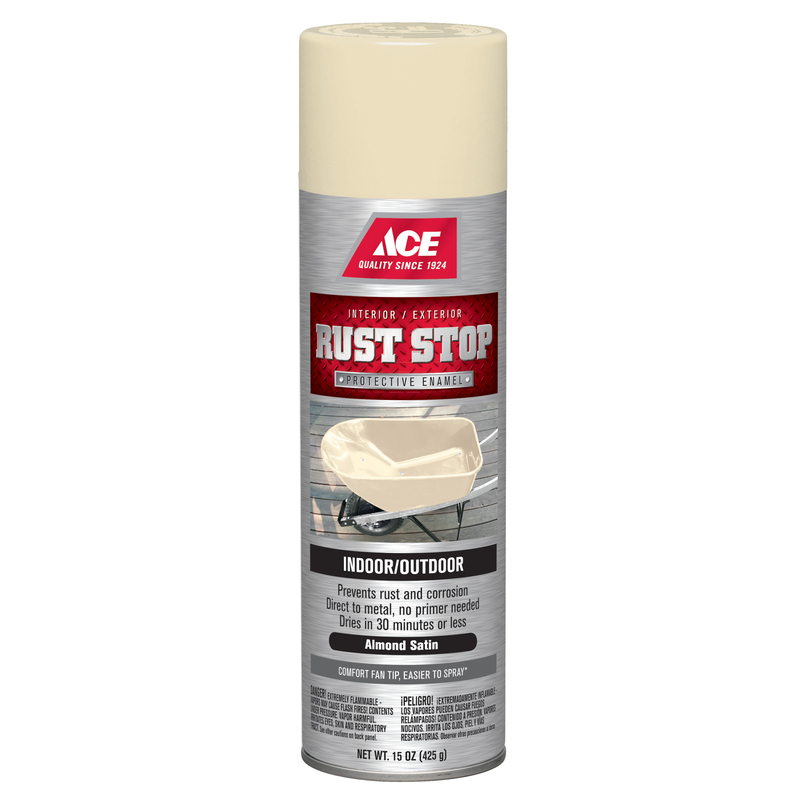Ace  Rust Stop  Satin  Spray Paint  15 oz. Almond