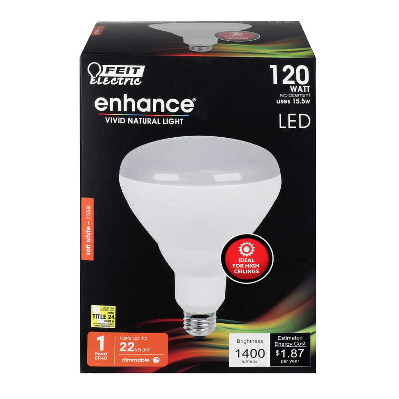 FEIT Electric  22 watts BR40  LED Bulb  Soft White  120 Watt Equivalence Reflector  1400 lumens