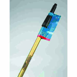 Ettore  REA-C-H  Telescoping 12 ft. L x 1 in. Dia. Silver/Blue  Aluminum  Extension Pole