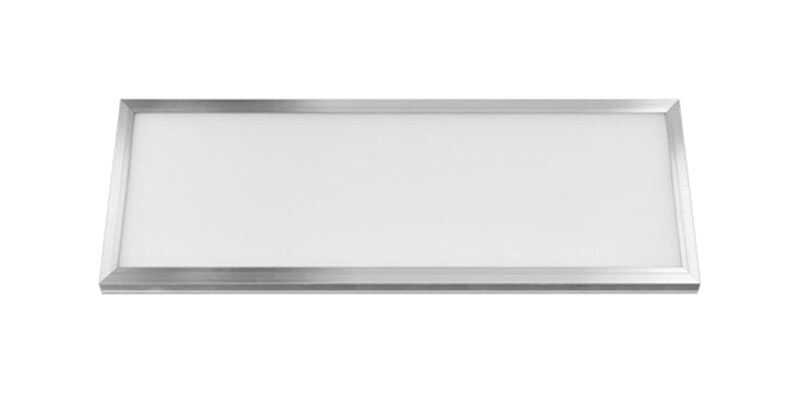 FEIT Electric  2 in. H x 12 in. W x 48 in. L Brushed Nickel  LED Flat Panel Light Fixture