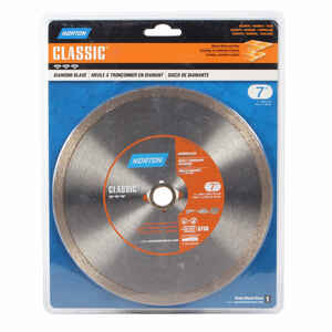Norton  7  Diamond  Classic  Continuous Rim Diamond Saw Blade  5/8 and 7/8  0.09 in.  1 pc.