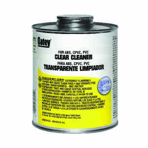 Oatey  Clear  For ABS/CPVC/PVC 16 oz. Cement and Cleaner