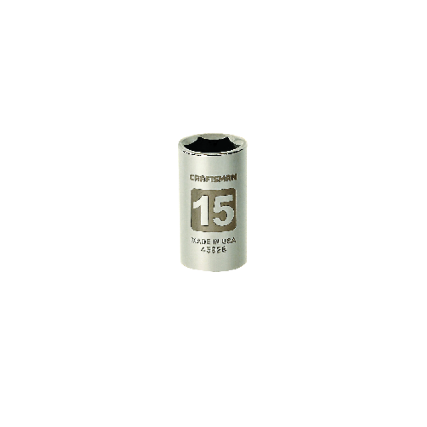 Craftsman  15 mm  x 1/2 in. drive  Metric  6 Point Standard  Socket  1 pc.