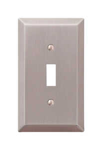 Amerelle  Brushed Nickel  1 gang Toggle  Wall Plate  1 pk Stamped Steel