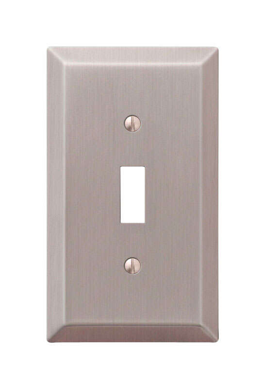 Amerelle  Century  Brushed Nickel  1 gang Stamped Steel  Toggle  Wall Plate  1 pk
