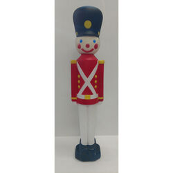 Union Products Multi 32 in. Blow Mold Lighted Toy Soldier with Black Hat