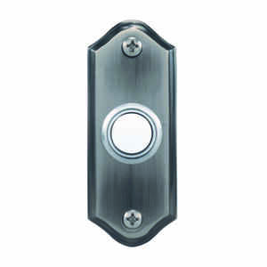 Heath Zenith  Pewter  Silver  Metal  Wired  Pushbutton Doorbell
