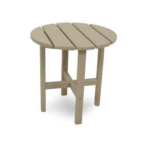 Ivy Terrace  Tan  Classic  Round  Plastic  End Table