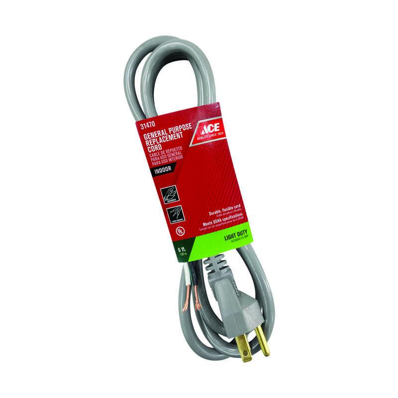 Ace 16/3 SJT 125 Volt 6 Ft. L Appliance Cord