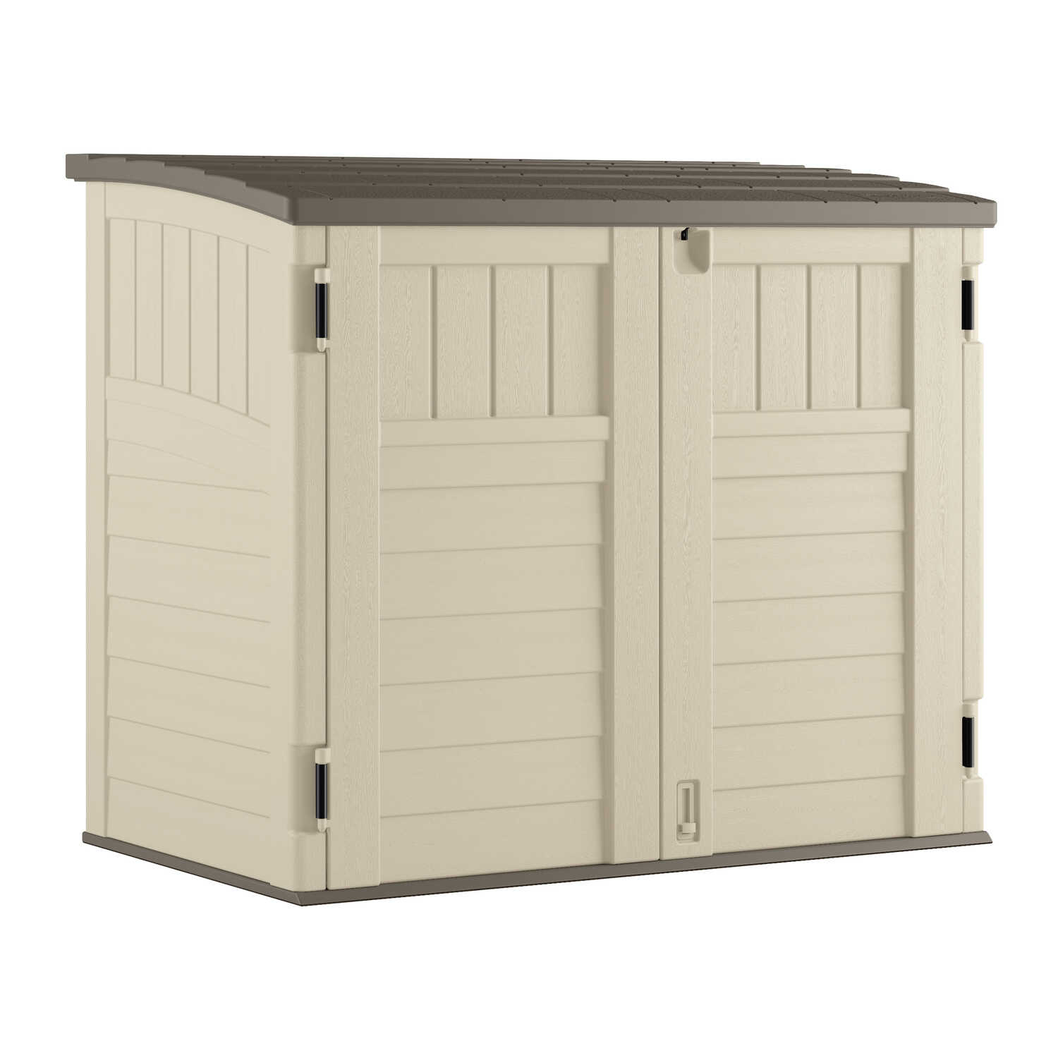 Suncast  3.8 ft. H x 4.5 ft. W x 2.7 ft. D Vanilla  Resin  Horizontal Storage Shed