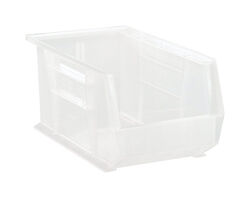 Quantum Storage  14-3/4 in. L x 8-1/4 in. W x 7 in. H Storage Bin  Plastic  1 compartment Clear