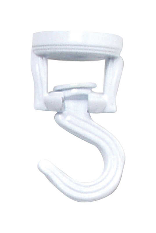 Panacea  White  Steel  3-9/16 in. H Swivel  Swag Hook  1 pk