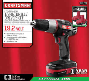 Craftsman  C3  19.2 volts 1/2 in. Brushless Cordless Compact Drill/Driver  Kit 1400 rpm 2