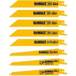 DeWalt Bi-Metal Reciprocating Saw Blade Set Multi TPI 8 pk