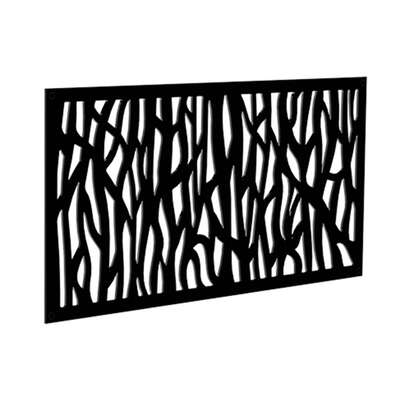 Xpanse  Sprig  2 ft. W x 4 ft. L Black  Polymer  Screen Panel