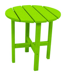 Ivy Terrace Round Green Plastic Classic End Table