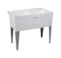 Utilatwin  40 in. W x 24 in. D Double  Polypropylene  Laundry Tub