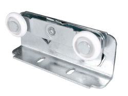 Prime-Line  7/8 in. Dia. x 1/4 in. L Mill  Plastic/Steel  Roller Assembly  2 pk
