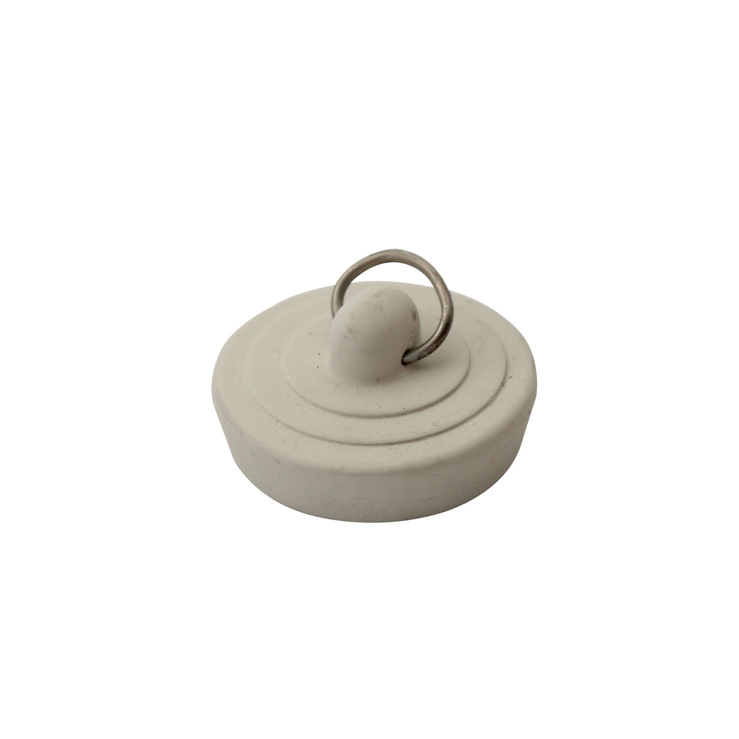 Ace  1-3/8 in. Dia. Sink Stopper  Rubber  Nickel Plated