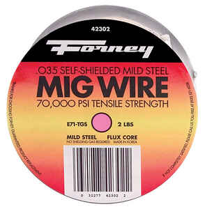 Forney  0.035 in. Flux Cored Wire  Mild Steel  2 lb. 70000 psi