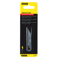 Stanley  Stainless Steel  Utility  Replacement Blade  2-9/16 in. L 1 pc.