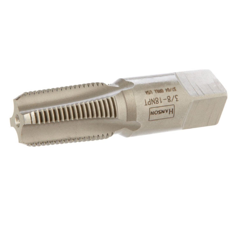 1-1//16 Thread Length Uncoated 2-9//16 Overall Length Titan TT93408 NPT High Speed Steel Taper Pipe Tap 0.7 Shank Diameter 3//8-18