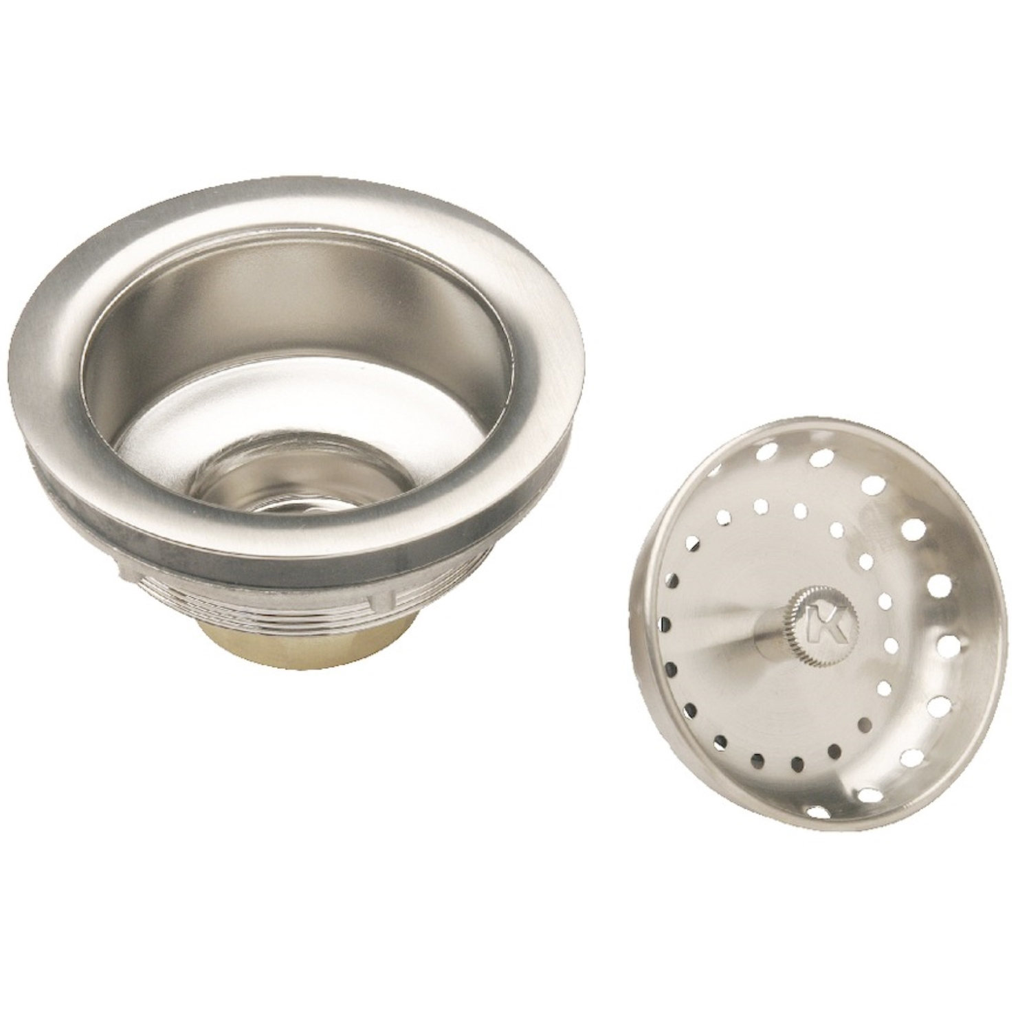 Keeney  3-1/2 in. Chrome  Brass  Sink Strainer