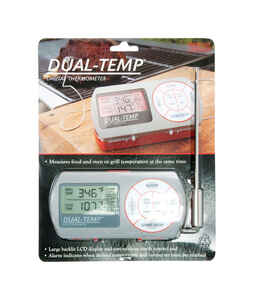 Charcoal Companion  Dual-Temp Digital  Stainless Steel  Grill Thermometer  5.5 in. H x 3 in. W x 1.3