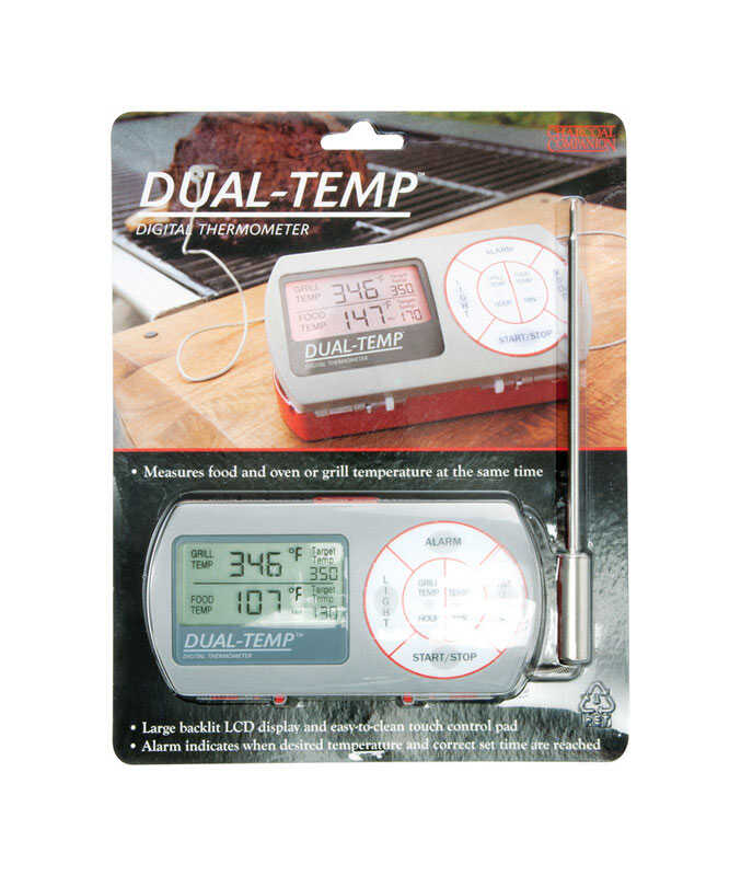 Charcoal Companion  Dual-Temp Digital  Grill Thermometer