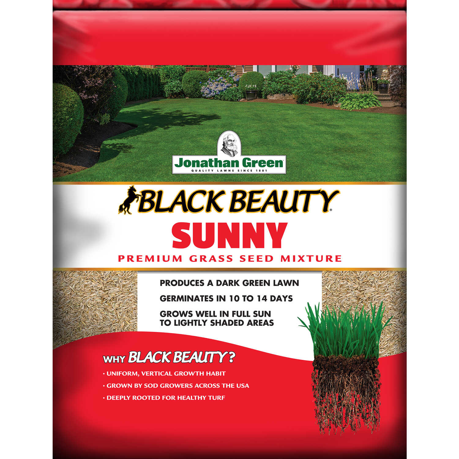 Jonathan Green  Black Beauty Sunny  Mixed  Grass Seed  3 lb.