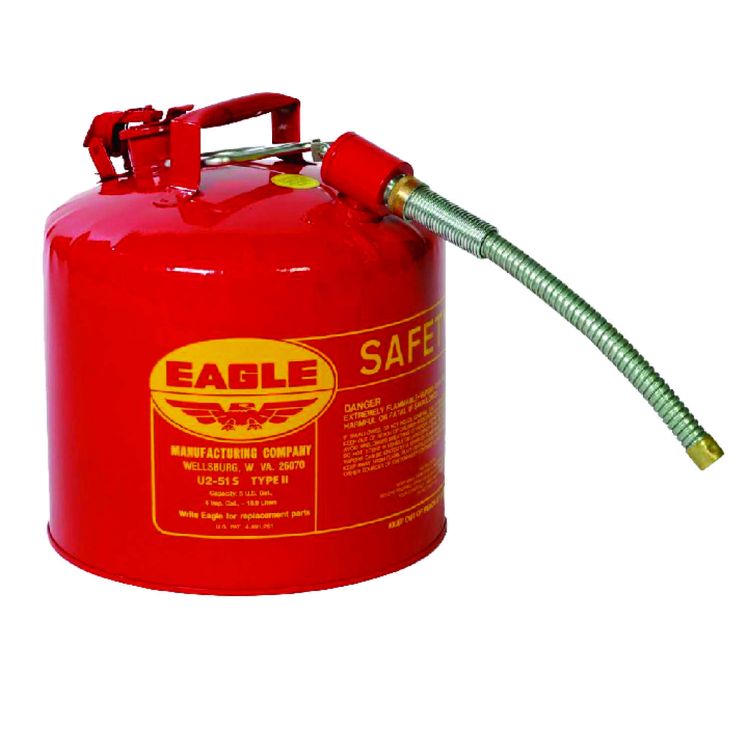 Eagle  Steel  Safety Gas Can  5 gal.