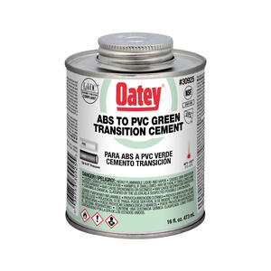 Oatey  Green  Transition Cement  For ABS/PVC 16 oz.