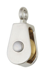 Campbell 3/4 in. Dia. Nickel Copper Ridge Eye Pulley